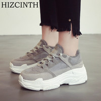 HIZCINTH 2018 Spring Women S Shoes New Harajuku Style Flats Shoes Woman Breathable Leisure Flat Platform