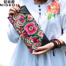 National Retro Embroidered Bag with Floral Design Wristlet Women Handbag Purse Elegant Handmade Day Clutch Bag Clutches wallet