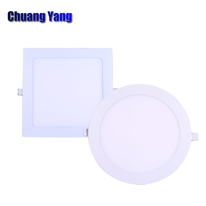 3 W 4 W 6 W 9 W 12 W 15 W 18 W 24 W Verzonken Led Panel Licht 220 V Ronde Vierkante Super Slanke Plafondlamp Voor Thuis