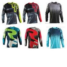 Стиль Мужские MOTO GP DH MX мотокросса внедорожные Футболки с длинным рукавом мотоциклетная одежда быстросохнущая горные MTB рубашка