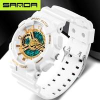SANDA Sport Top Electronic Wrist Watches Brand Xfcs S Shock Watch Digital Rubber Band Sports Wristwatch