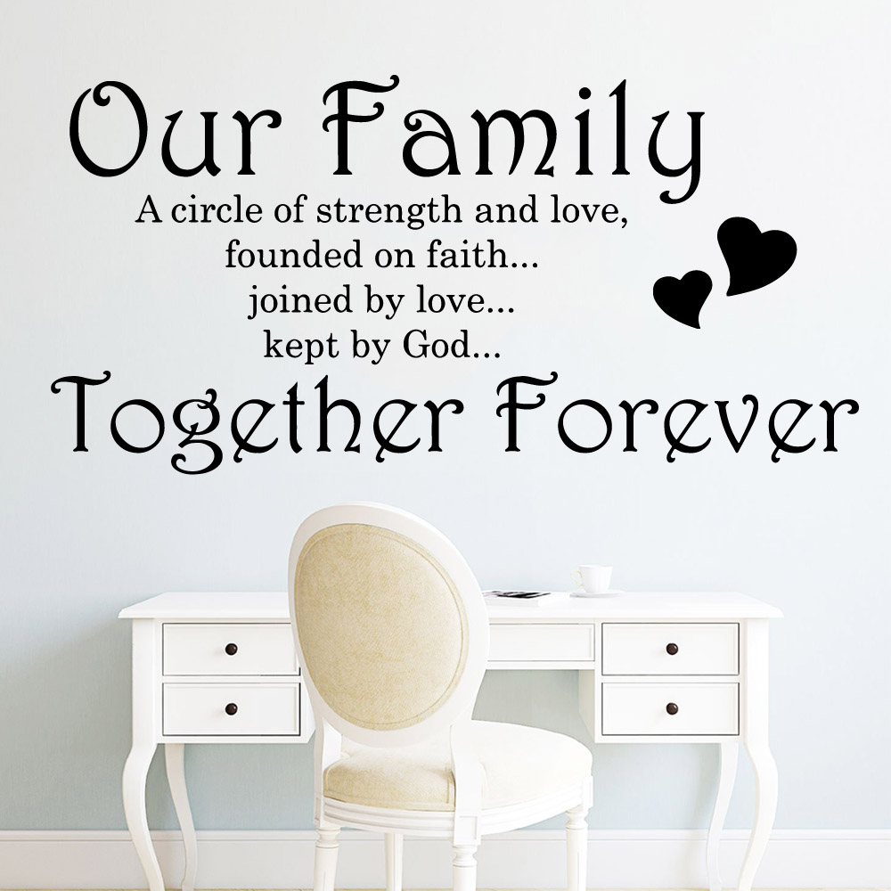 Lovely English Quotes Removable Art Vinyl Wall Stickers Living Room Children Decoration