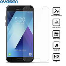 2 Pcs/Lot Premium HD Tempered Glass For Samsung Galaxy A7 2017 A720 9H 2.5D 0.26MM Toughened Screen Protector Cover Film