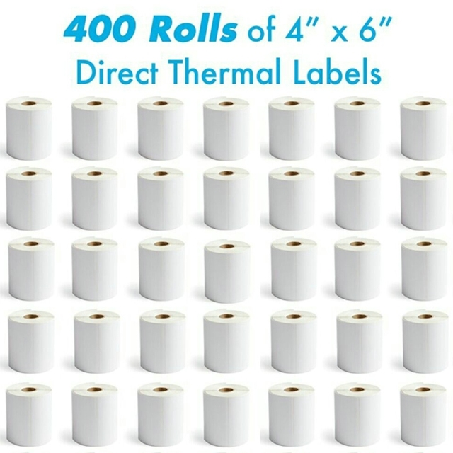 tklabel 400 rolls with 250 labels roll 4 x 6 direct thermal