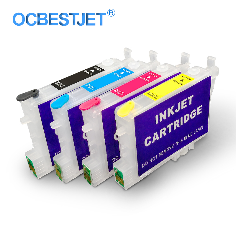 4 Colors/Set T0551 T0552 T0553 T0554 Refillable Ink Cartridge For Epson Stylus Photo R240 R245 RX420 RX425 RX520 Printer