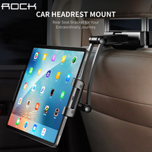 Rock Car Back Seat Tablet Stand Headrest Mount Holder for iPad Air 2 3 4 5 6 Mini 1 2 3 Tablet PC Holders For Xiaomi Huawei Pad(China)