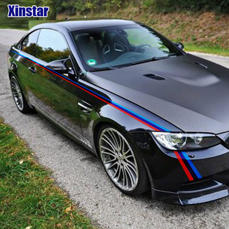 2pcs M Performance Car Body Decoration Sticker For BMW E36 E39 E46 E53 E60 E61 E64 E70 E71 E85 E87 E90 E83 F10 F20 F21 F30 F35