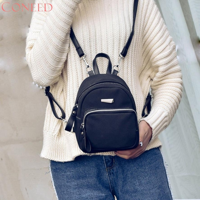 97f2b8e03d CONEED Charming Nice Women Fashion Csul Ldies Cndy School Style Solid  Student Mini Backpacks Best Gift ping Oct20