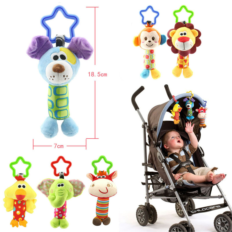 2018 Baby Toys Rattle Tinkle Hand Bell Multifunctional Plush Stroller Mobile toy Gifts G0129