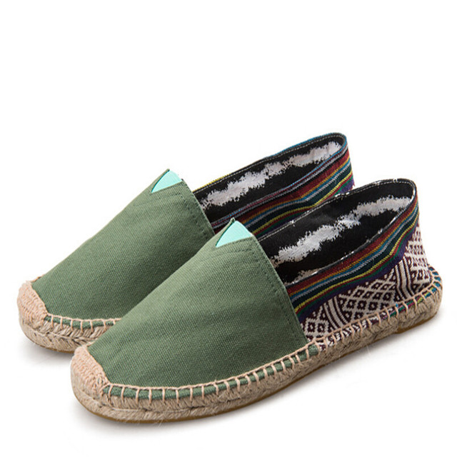 Women's Men's Unisex Slip On Flat Canvas Espadrilles Loafers Shoes
