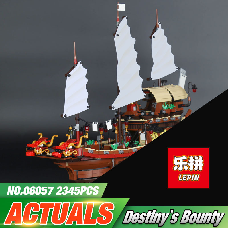 Lepin 06057 Genuine 2345Pcs New Ship Series The Destiny`s Bounty Set 70618 Building Blocks Bricks Educational Kid`s Toys As Gift 2017 new 10680 2324pcs pirate ship series the slient mary set children educational building blocks model bricks toys gift 71042