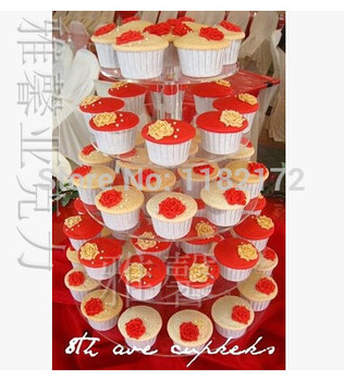 New 2014 Brand New 5 tier New Arrival High transparency acrylic wedding cake stand, acrylic cake stand