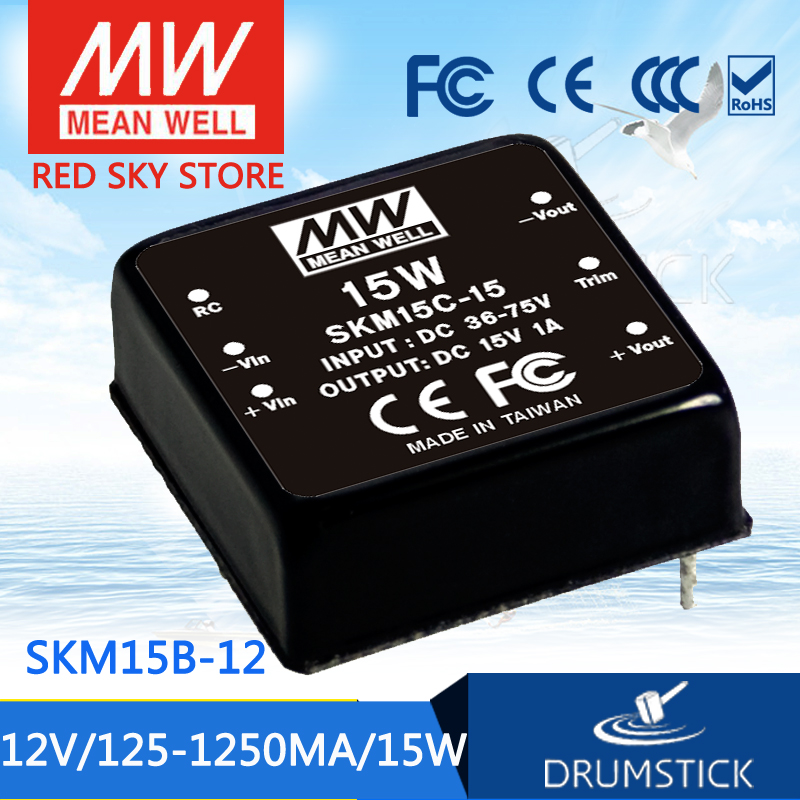 Hot sale MEAN WELL SKM15B-12 12V 1250mA meanwell SKM15 12V 15W DC-DC Regulated Single Output Converter advantages mean well ske15c 12 12v 1250ma meanwell ske15 12v 15w dc dc regulated single output converter