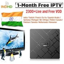 India Arabic IPTV HK1 mini 1 month IP TV Code Turkish Pakistan Subscription 4K Box Android Germany Canada Africa Italy