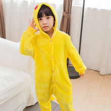 Pikachu Onesie Pajama Animal Catton Children Kids Boy Girl Lovely Jumpsuit Flannel Soft Sleepwear Christmas Gift Pokemon Clothes