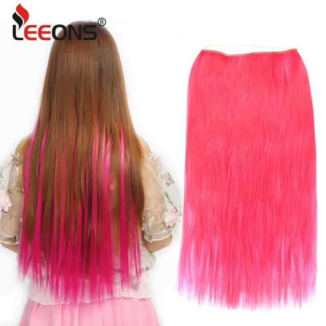 Leeons Hidden Wire Hair Extensions 22 Long Thick Straight Light