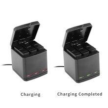 Телесин 3-способ зарядное устройство зарядки окно carryiny чехол для хранения 2 в 1 + 3 шт. Замена Аккумулятор для Gopro Hero 5 Аксессуары