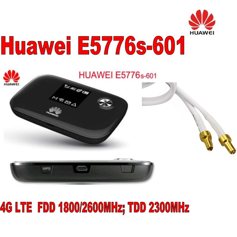 New Unlock Huawei E5776s-601 4G LTE FDD TDD Wireless Router 150M Wifi Modem+Indoor New 4G lte MIMO antenna 49dBi