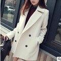 El envío Libre 2016 otoño y el invierno ropa de abrigo de lana de lana delgado de lana prendas de vestir exteriores ocasional prendas de vestir exteriores femenina VESTIDOS ELEGANTES del