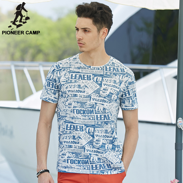 Pioneer Camp Men T Shirt New 2017 Cotton Simple Print: Pioneer Camp.2017 New Fashion Summer Mens T Shirt Short