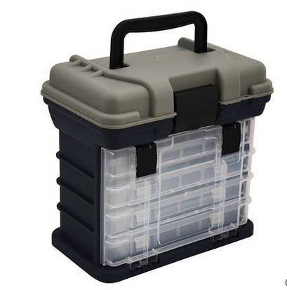 Portable Lure Box Size 28CM X 26CM X 18CM Fishing Tackle Box Detachable Stool Case тройник jif ис 070311
