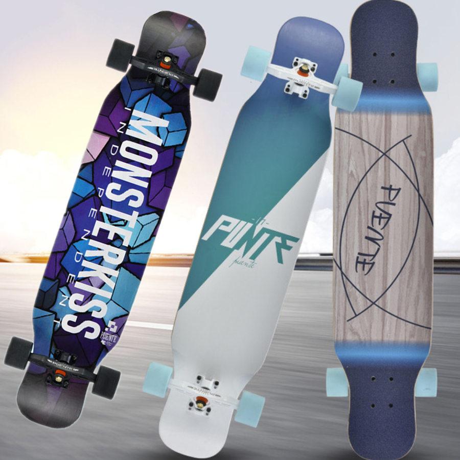 Adults Skate Longboard Deck 107CM Highway Dance Board Skateboard Downhill Freestyle Road Brush Street Dancing Longboard