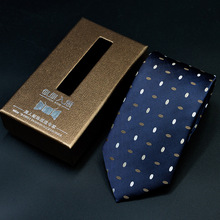 NiniRusi Luxury Silk Men Tie With Gift Box Jacquard Woven Neckties Set For Wedding Party