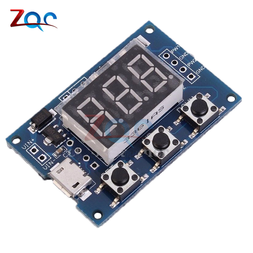 DC 5-30V Micro USB 5V Power Independent PWM Generator 2 Channel Dual Way Digital LED Duty Cycle Pulse Frequency Board Module