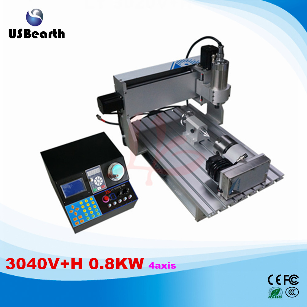 800W 4 Axis cnc router 3040 for woodworking metal PCB good speed machines for woodworking metal cnc router for sale