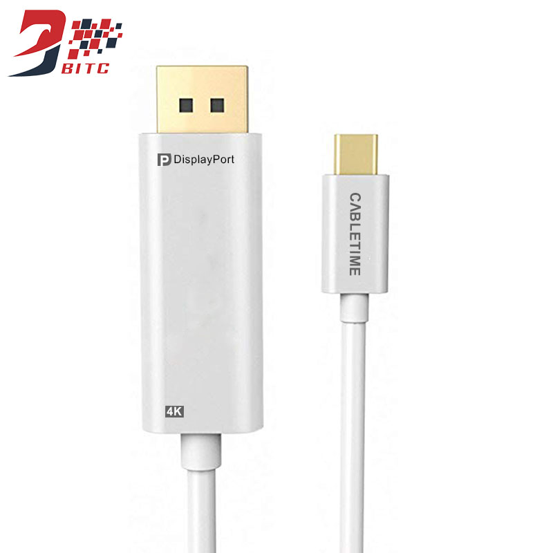 Type C Male to DP Male Adapter USB3.1 C to DisplayPort Cable 4K@60HZ for MacBook Galaxy S9 Huawei P20