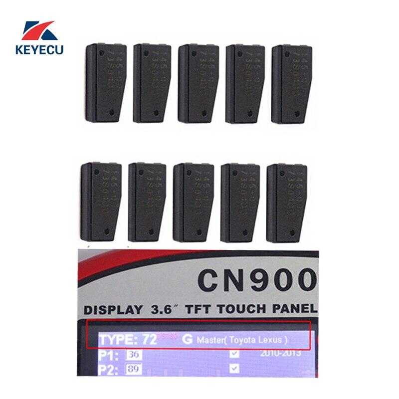 KEYECU Transponder Chip for Toyota 2010 2015 4D 72 G Master Chip Pack of 10
