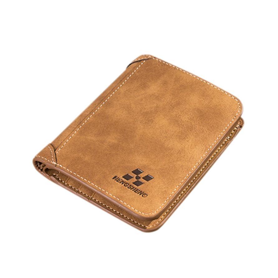 Compapetion HENGSHENG Men Wallets Blocking Short Leather Brand Wallet Men Card Holder Purse With Coin Pocket Carteira Masculina