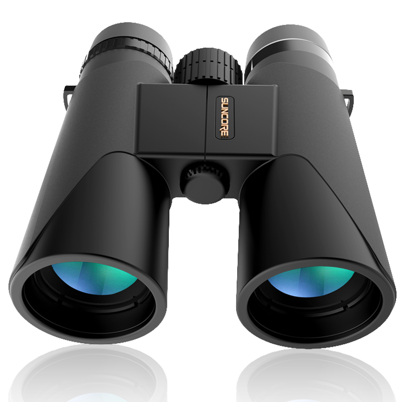 12x42 Professional Binoculars Telescope Compact HD BAK4 Military Optical Telescope for Bird Watching Hunting Camping Hiking