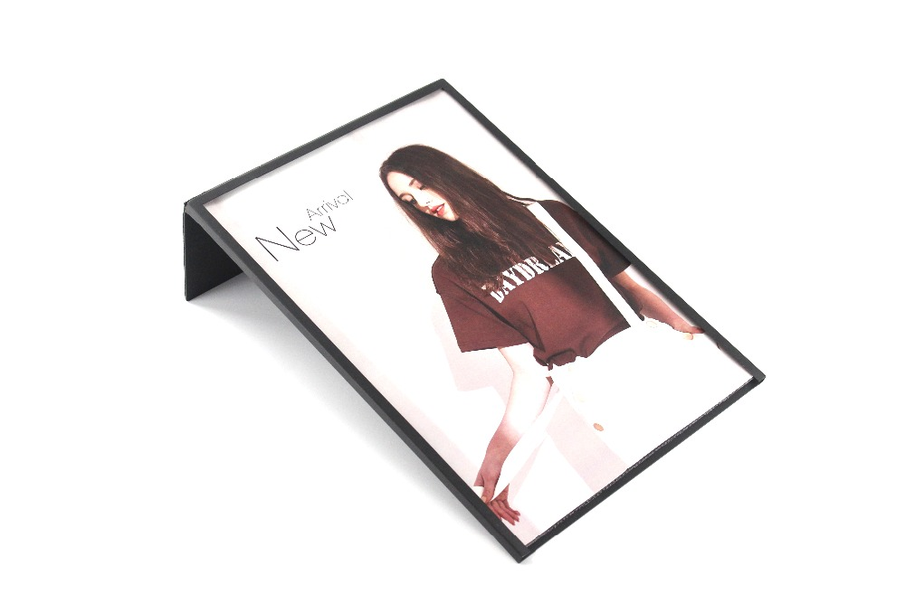 A4 Black Poster Rack White Photo Frame Stand Metal Photo ...