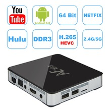 AE256 Amlogic S912 Android Tv Box 6.0 2G/32G 10/100 M/1000 M LAN Bluetooth 4.0 Wifi 2.4G/5G KD 17.0 Pré-installé