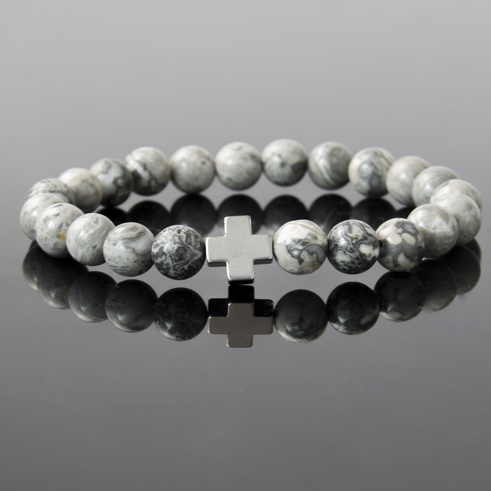 charm black bead products design stone head titanium bracelet steel natural men mcllroy lion matte bracelets tiger