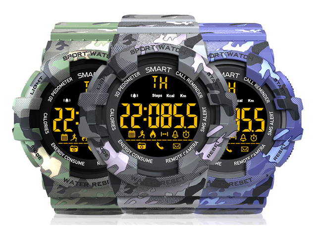 OUTDOOR CAMOUFLAGE BM18 WATERPROOF SMARTWATCH