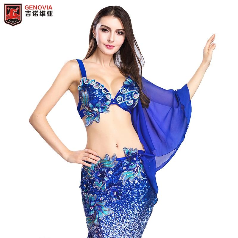 969aa80db1aa Women Belly Dance Costume Dancewear Belly Dancing Clothes Oriental Dance  Outfits Bra+Long Skirt for Women 2 Pieces Set for Women