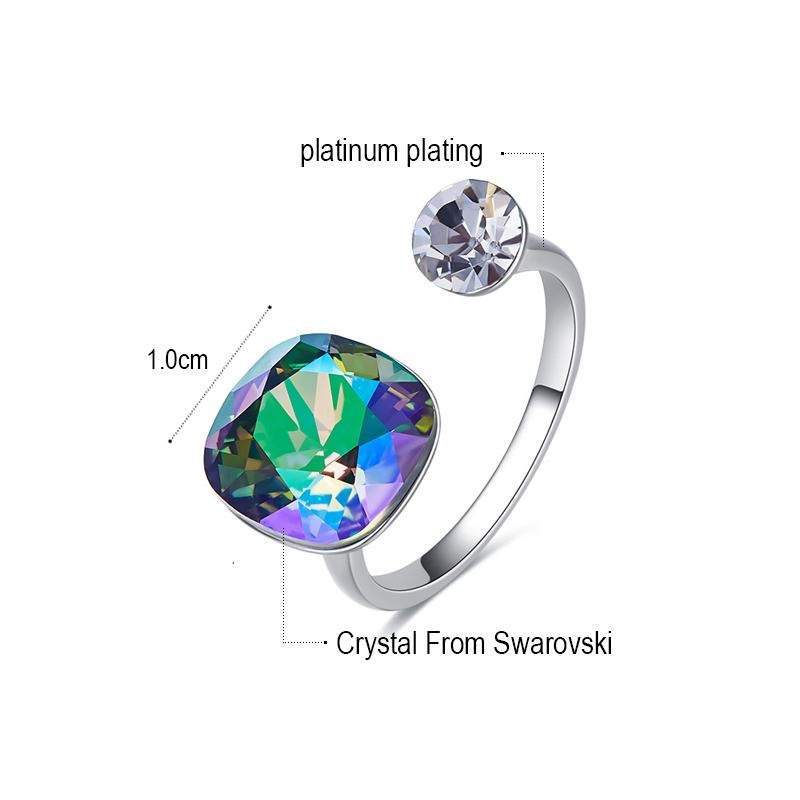 769073e6396ed US $9.09 30% OFF|MALANDA New Fashion Open Rings Real Crystal From SWAROVSKI  Rings For Women Elegant Wedding Party Rings Accessories Girls Gift-in ...