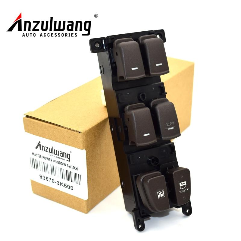 ANZULWANG 93570-3K600 935703K600 Window Main Switch Button LHD For 08-10 Hyundai NF Sonata