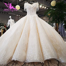 AIJINGYUงานแต่งงานGowns 2021ในชุดโกธิคในตุรกีมุสลิมBohoนำเข้ากรีซชุดกวางโจวโรงงานชุดแต่งงาน