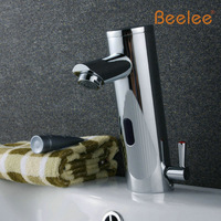 Contemporary Brass Hand Free Hot Cold Mixer Auto Sensor Tap Bathroom Wash Basin Sink Chrome Faucet