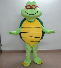 Funny Turtle Mascot Costume Adult Size Cartoon Green Tortoise Theme Anime Cosplay Costumes Carnival Apparel