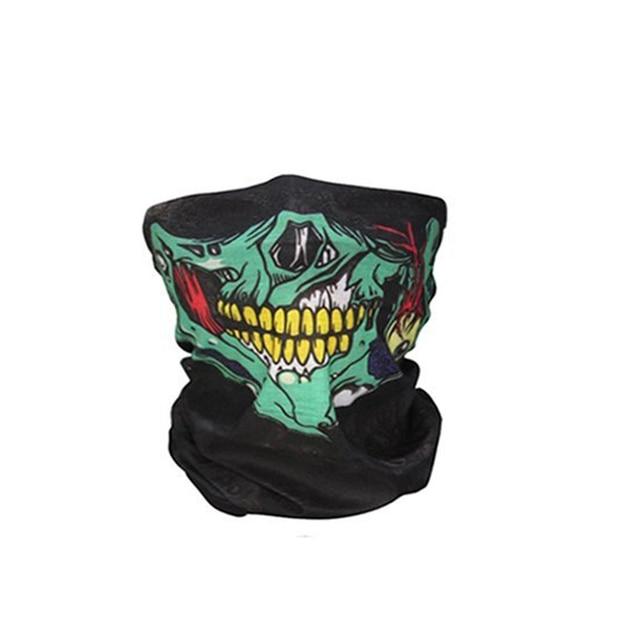 Men Scarf Halloween Ride bandana Women Headscarf Ski Skull Half Face Mask Ghost Scarf Neck Hiking Scarves Cuello Balaclava Masks 5