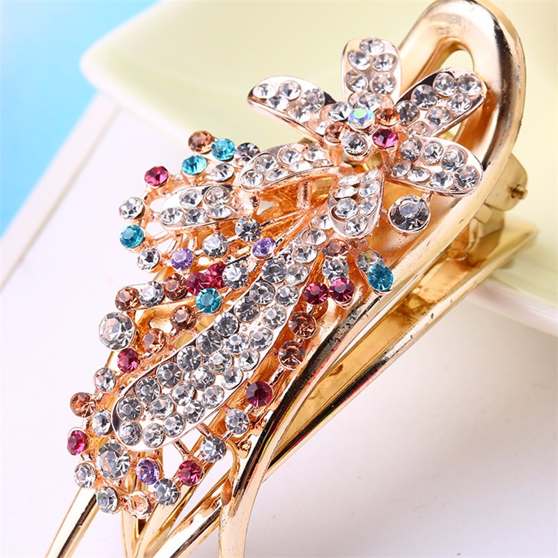 HTB1BTtiNpXXXXc8XpXXq6xXFXXXR Gorgeous Rhinestone Crystal Studded Flower Hair Clip Ornament For Women