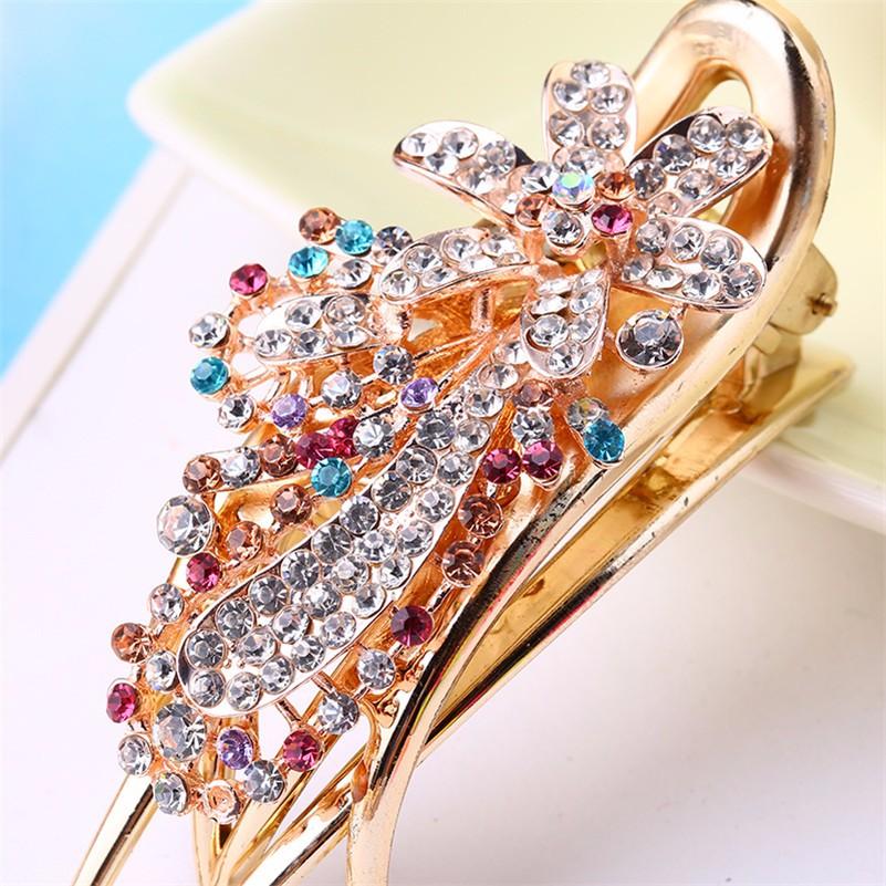 HTB1BTtiNpXXXXc8XpXXq6xXFXXXR Gorgeous Rhinestone Crystal Studded Flower Hair Clip Ornament For Women