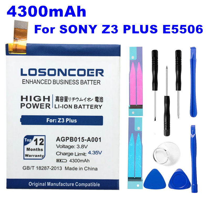 4300mah Agpb015-a001 Battery For Sony Xperia Z3 Plus Z4 Z3 Z3 Neo So-03g C5 Ultra Dual E6553 E5563 E5553 E5533 E5506 Battery Bright Luster Mobile Phone Batteries Cellphones & Telecommunications