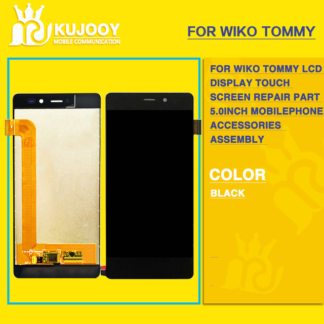 For Wiko Tommy LCD Display Touch Screen Repair Part 5.0 inch Mobilephone Accessories  Assembly