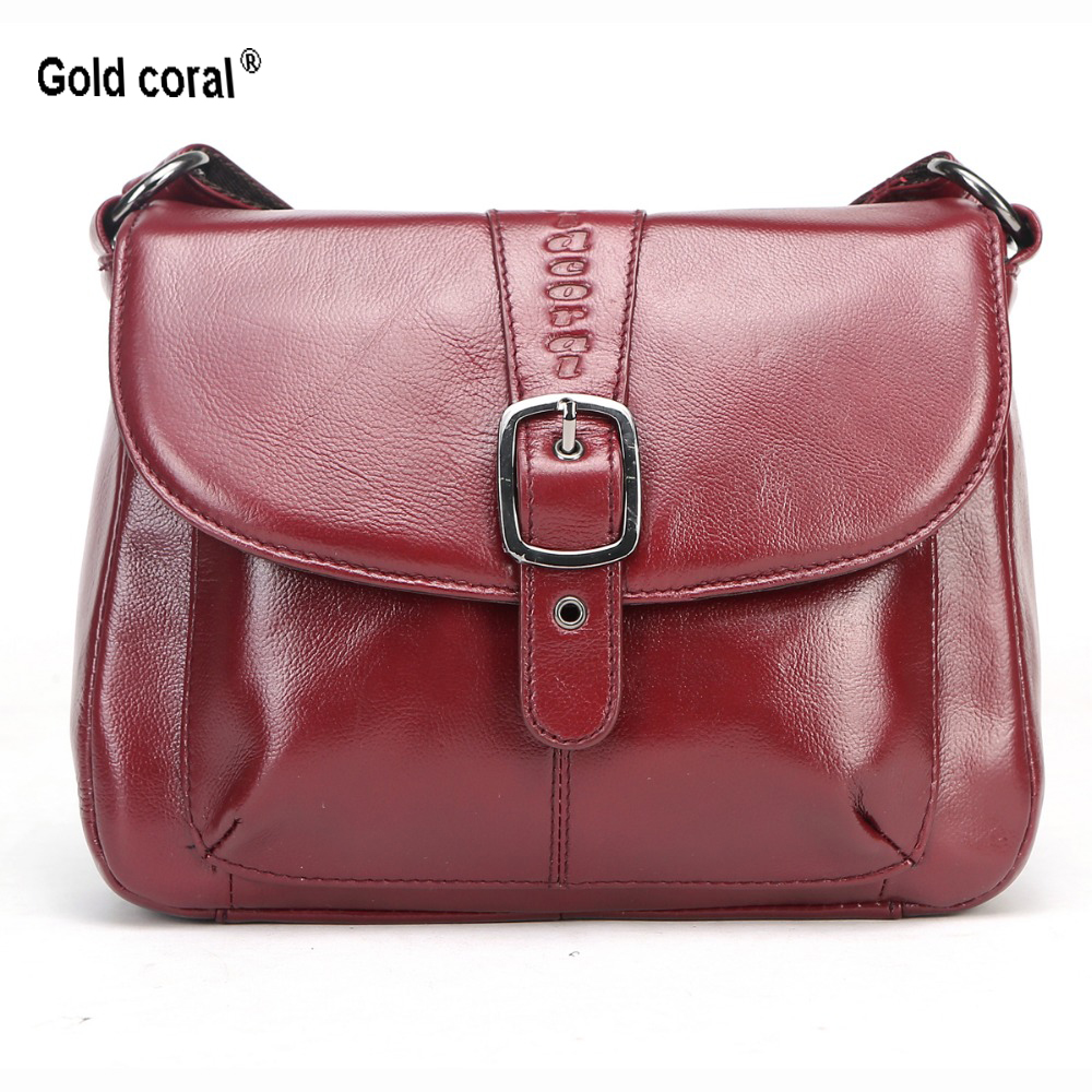 GOLD CORAL Luxury Handbags Women Bags Designer Shoulder Bags Small Genuine Leather Crossbody Bag Ladies Tote bolsa feminina 2018GOLD CORAL Luxury Handbags Women Bags Designer Shoulder Bags Small Genuine Leather Crossbody Bag Ladies Tote bolsa feminina 2018