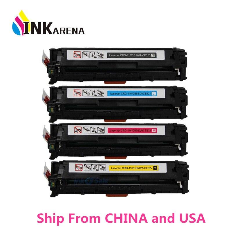 Compatible Color Toner Cartridge CE320A CE321A CE322A CE323A 128A for HP LaserJet...